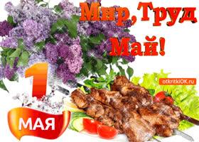 Открытка поздравительная открытка к 1 мая