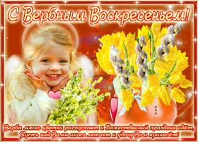 Открытка поздравляю с божественным праздником вербы