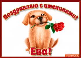 Картинка поздравляю с днём имени ева