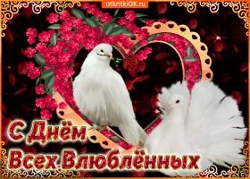 Открытка поздравляю с днём всех влюблённых