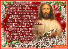 Открытка поздравляю вас друзья с вербным воскресеньем