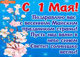 Картинка поздравляю вас всех с 1 мая