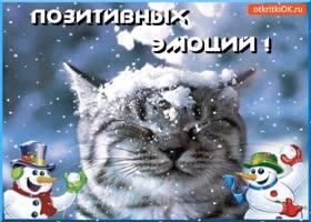 Картинка позитивных зимних эмоций