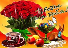 Открытка прекрасные розы для тебя