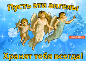 Картинка пусть ангелы хранят тебя всегда!
