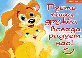 Картинка пусть наша дружба всегда радует нас!