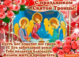 Открытка пусть троица вас хранит от злых духов