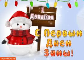 Картинка с 1 декабря -  первый день зимы