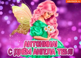 Открытка с днём ангела антонина
