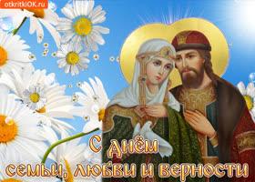 Картинка с днем семьи, любви и верности поздравляю