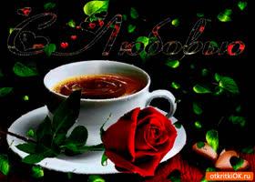Картинка с любовью красная роза