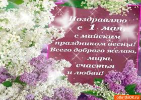 Открытка с майским праздником весны поздравляю