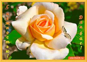 Открытка с нежностью для вас цветочек