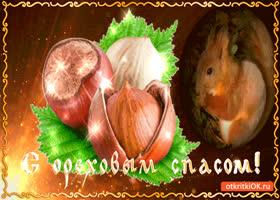Открытка с ореховым спасом - вкусные орехи вам на страничку