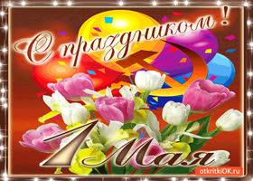 Открытка с праздником 1 мая мои друзья