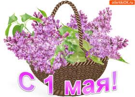 Открытка с праздником 1 мая открытка