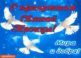 Картинка с праздником троицы - мира и добра