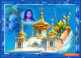 Картинка c вербным воскресеньем - храни вас господь