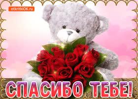 Картинка спасибо тебе за всё, тебе букет роз