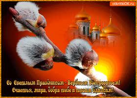Картинка светлый праздник вербное воскресенье