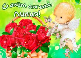 Картинка тебе желаю море счастья в день ангела, лилия