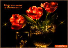 Открытка цветы для милых и обаятельных