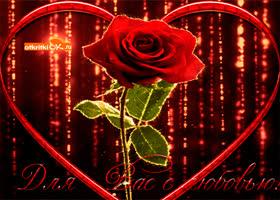 Открытка цветы для вас с любовью