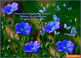 Открытка цветы из нежности хочу подарить