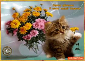 Открытка цветок в честь нашей встречи