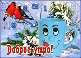 Картинка веселая зимняя картинка с добрым утром