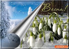 Открытка весна красивая пришла