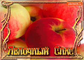 Открытка витаминный праздник яблочный спас