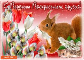 Картинка всем друзьям сердечное поздравление с вербным воскресеньем