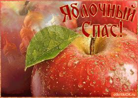 Картинка яблочный спас - поздравляю вас!