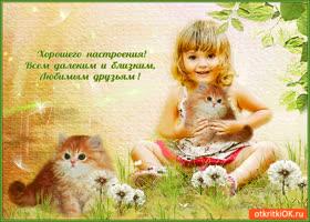 Картинка желаю хорошего настроения любимым друзьям