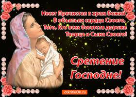 Открытка живая открытка сретение господне