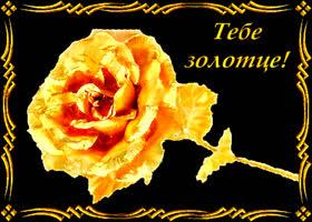 Картинка золотой цветок золотой подружке